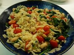 Orzo Pasta (Philosopher Queen) Tags: food cooking dinner recipe pasta meal orzo cookinglight whitebeans