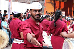 Vajra Dhol Tasha Pathak by Sanat Satav (ThisSanat) Tags: street portrait india canon religious photography for photo ganesha amazing media photographer image photos drum indian religion creative images best holy sd drummer maharashtra tradition mumbai tasha pune immersion fanfare sanat poona pageantry dhol pathak 600d satav jjournalism thissanat