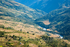 Mangde Chhu Valley (whitworth images) Tags: terraces landscape asia mangdechhu nature himalaya remote himalayas farms rural bhutan winter harvest agriculture mangderiver scene travel paddies scenic agricultural river golden ricepaddies outdoors green isolated yellow paddy valley trongsadzongkhag