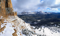 On the way up, Bald Mountain (rangerbatt) Tags: uintamountains lake mountainlake uintas forest forestlake utah mountains panorama nikon nikond5300 d5300 wildlands northernutah alpinelake landscape mountainlandscape wildutah americanwest evanjenkins utahmountains cliffs mirrorlake