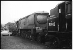 Early Preservation Photos 1 (trafalgar45682) Tags: haworth locomotive yard 80002 34092 city welll preserved steam standard 4 tank west country wells