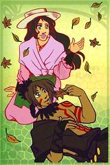 Relaxed (AliceDraws) Tags: inu yasha inuyasha anime sango miroku