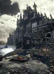 Dark Souls III (ConnecteD\_) Tags: dark souls iii sky castle ruins screenshot panoramic