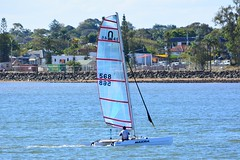 DSC_0315 (LoxPix2) Tags: loxpix queensland australia sailing catamaran trimaran nacra hobie arrow moth 505 maricat humpybongyachtclub humpybash aclass f18 mosquito laser bird spinnaker woodypoint
