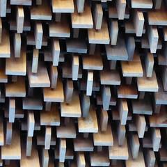 Batavia, IL, Fermi National Accelerator Laboratory, Wilson Center Auditorium Lobby Sound Absorbing Ceiling (Mary Warren (7.4+ Million Views)) Tags: bataviail ferminationalacceleratorlaboratory fermilab science research wilsonhall auditorium lobby ceiling walnut wood abstract pattern