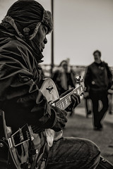 Once more with feeling (neal1973) Tags: epiphone blackandwhite mono music singing cold winter london southbank blues man guitarist guitar busking busker