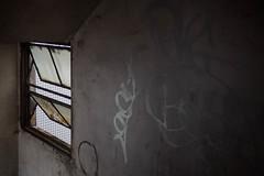 window (kasa51) Tags: window building apartment graffiti rusty yokohama japan