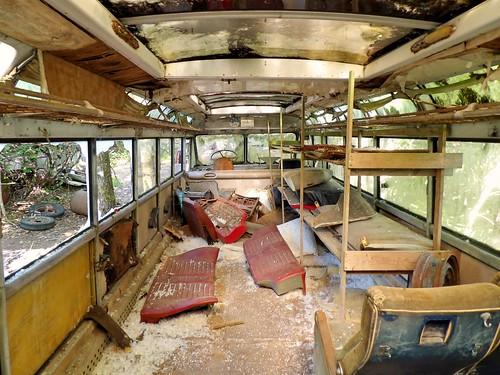 L'intérieur d'un autobus