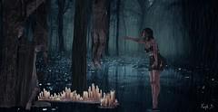 Dark (KaylaDamanz) Tags: dark death maitreya tree forest water canddle blood hanged girl sad