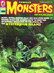 Famous Monsters #68 (1970), cover by Vic Prezio (Tom Simpson) Tags: famousmonsters 1970 cover vicprezio famousmonstersoffilmland illustration art mysteriousisland underwater diving diver 1970s painting