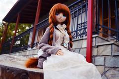 garden story (Soenatte) Tags: dd dollfie dream xenosaga momo obitsu obitsu60 volks anime mori girl redhead red hair blue eyes garden forest