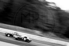 MG B vs. Lotus Elan (MPH94) Tags: oulton park cheshire north west motorsport motor sport race racing motorracing auto car cars october photography canon 500d cscc classic sports club adams page swinging sixties black white monochrome mg b lotus elan mgb