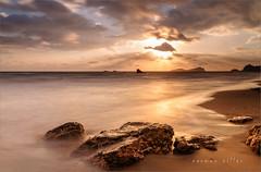 Morning glory (carmenvillar100) Tags: amanecer goldendawn esfigueral clouds nuboso rocas playa largaexposicion sunrise octubre ibiza mediterraneansea mediterraneo eivissa morningglory