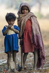 Tribal children (wietsej) Tags: tribal children sony a100 sal135f18z 135 zeiss maikal hils chhattisgarh india rural village