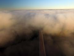 Road to the fog (ABDKHemings) Tags: drone dji fog
