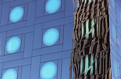 steel skeleton (Fotoristin - blick.kontakt) Tags: hamburg hotel arcotel front fassade reflections architecture building abstract lines colourful circles reeperbahn blue stahlgerippe steel skeleton fotoristin