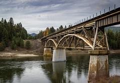 Bridge Over the Clark Fork (ebhenders) Tags: railroad bridge clark fork river montana fall water cloudy sky