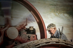 Feel the power of steam (cornishdave) Tags: tractionengine farmmachinery