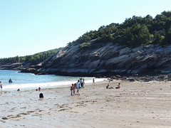 Sandy Beach (dale52.5) Tags: sandybeach acadia maine vacation outdoor shore ocean landscape seaside