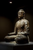 Iron Seated Buddha (Yunhyok Choi) Tags: smcpentaxfamacro50mmf28 korea pentax pentaxk3 artifact buddah buddhism iron museum statue ìì¸í¹ë³ì ëí민êμ kr