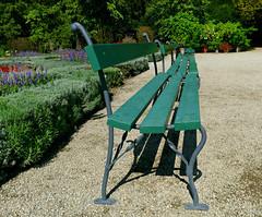 Six Green Benches (Colorado Sands) Tags: hbm benches greenbench botanicgarden sandraleidholdt zagreb europe hrvatska garden bench croatia