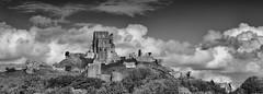 Majestic (Greatdog) Tags: dorset clouds cloudsstormssunsetssunrises landscape blackandwhite corfecastle corfe castle