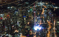 Toronto Core (Ben_Senior) Tags: toronto ontario canada downtown downtowntoronto waterfront cntower rogerscentre skydome gardiner gardinerexpressway torontobluejays water lake lakeontario greatlakes city building buildings skyscraper skyscrapers cityhall tower towers bensenior nikond7100 nikon d7100 night evening dark reflections colour colours color colors blue purple green yellow red black boat aircraft aviation airplane plane wing cessna 172 cessna172 cytz ytz citycentreairport citycentre billybishop airport