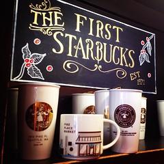 The First Starbucks (allisonlnhyatt) Tags: thefirststarbucks 1912pike pikeplace pike starbucks coffee merchandise seattle