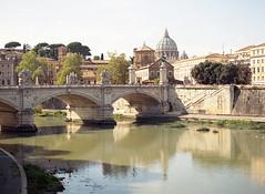 Rome, Italy (sinkalyagas) Tags: travel rome italy tiber river autumn film kodak ektar mediumformat mamiya rz67 120mm