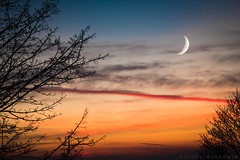 Projet 52 #47/52 - Clair de lune (a n n e s o D) Tags: sky normandie doubleexposure d750 surimpression sunset lehavre nikon colors nuages lune moon lh doubleexposition light clouds