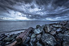 No sun, no problem..... (Paul Rioux) Tags: nature outdoor scenic bc vancouverisland victoria westshore colwood esquimalt lagoon waterfront seascape seashore beach shore rocks clouds weather cloudy gloomy cold boulders log driftwood prioux canon 6d ef1740mmf4lusm