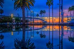 Vincent Thomas Morning Reflections (Michael F. Nyiri) Tags: sanpedroca southerncalifornia california vincentthomasbridge harbor losangelesharbor sunrise morning clouds