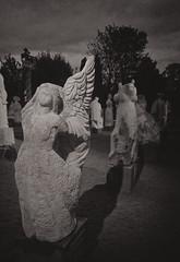 Lonely angel (Affectus_animi_ph) Tags: angel bnw black hdr park salvation divine lateatnight hopeful