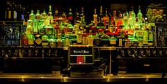 Thirsty Lion at Christmas (photographyguy) Tags: thirstylion liquor alcohol bar denver colorado christmas taps cashregister downtowndenver unionstation pub gastropub bottles redandgreen