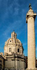 Columna de Trajano (Leandro Fridman) Tags: arquitectura architecture landmark cielo azul columna italia italy roma rome trajano traiano monumento historia nikon d60