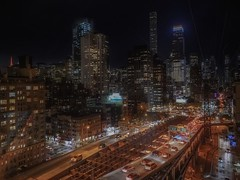 From Roosevelt Tramway (karinavera) Tags: travel sonya7r2 transportation view night roosevelttramway newyork urban city