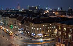 Warsaw Skyline (dressk) Tags: warsaw skyline poland polska nikon d40x nikond40x night long exposure longexposure blue hour bluehour europe city architecture