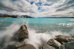 Pukaki Splash   Lake Pukaki, NZ (sampost) Tags: pukaki lake newzealand bluewaters splash southland canterbury wow