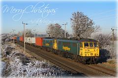 Merry Christmas! (Jason 87030) Tags: xmas christmas 86627 merru 2016 2017 newyear train railway northamptonshire season holiday wishes followers friends december 2010 winter murcott freightliner greetings prosperous