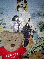 Annuver Japanese lady (pefkosmad) Tags: jigsaw puzzle leisure hobby pastime 1000pieces complete ted tedricstudmuffin teddy bear cute soft toy plush fluffy