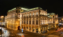 State Opera (DILLEmma Photography) Tags: golden royal opera vienna state austria exposure lightstreaks lights illumination streeets nightshot architecture building sky night design construction hall city