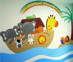 ihgf (BENET - BNT) Tags: bnt decoração graffiti arca de noé spray interior art arte benet pintura infantil quarto