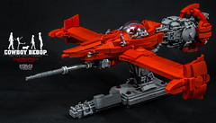 R_023_00_DSC08101 (seter82) Tags: cowboy bebop swordfish lego brick vehicle red anime character afol creation moc engine space fly hobby