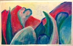 izmedju neba i mora (sandra djurbuzovic) Tags: paint pejzaz tempera landscape countryside sandradjurbuzovic 1998 bar uanj kolonija plava bor borovi planine nebo more blue green sunset suton crnagora montenegro art artist zelena magenta purple yellow lilac red crvena zuta ljubicasta