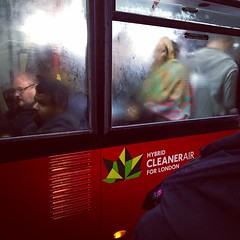 London Tales | Steam (Nassia Kapa) Tags: londontales nassiakapa bus londonbus london uk woman steam warm colours passengers