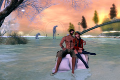 Retrospect Dec 4 2016 S&B_005F (SL trip of Babe & Syril) Tags: retrospect art umbrella snow secondlife couple