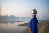 MYI_6382 (yaman ibrahim) Tags: india agra nikon d3 tajmahal yamuna morning water saree mis misty