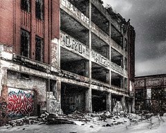 The Packard factory will never rise again (hz536n/George Thomas) Tags: 2014 cs5 canon canon5d detroit ef24105mmf4lisusm michigan packard summer winter abandoned copyright decay factory march urban 2013 hdr photomatix40 smörgåsbord upnorth