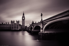 Westminster (Through_Urizen) Tags: category citiestowns england housesofparliament london places riverthames travel elizabeth tower theelizabethtower westminsterbridge westminsterpalace river riverbank riverlife longexposure clouds cloudysky cloud cloudblur water watercourse silkwater silkywater moody atmospheric monochrome lamps streetlamps street streetlights roadbridge arch architecture architecturephotography city cityscape capitalcity english british britain greatbritain uk unitedkingdom travelphotography canon canon70d canon1585mm bridge skyline outdoor