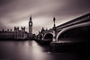 Westminster (Anthony P26) Tags: category citiestowns england housesofparliament london places riverthames travel elizabeth tower theelizabethtower westminsterbridge westminsterpalace river riverbank riverlife longexposure clouds cloudysky cloud cloudblur water watercourse silkwater silkywater moody atmospheric monochrome lamps streetlamps street streetlights roadbridge arch architecture architecturephotography city cityscape capitalcity english british britain greatbritain uk unitedkingdom travelphotography canon canon70d canon1585mm bridge skyline outdoor